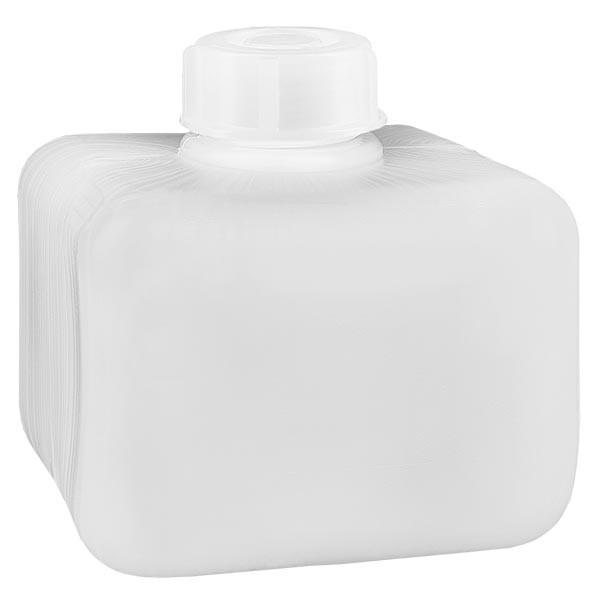 Chemikalienflasche 250ml, Enghals aus PE-HD, naturfarbig, inkl. Verschluss GL 28