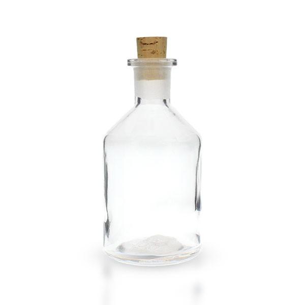 100 ml Steilbrustflasche mit Korken Enghals Klarglas