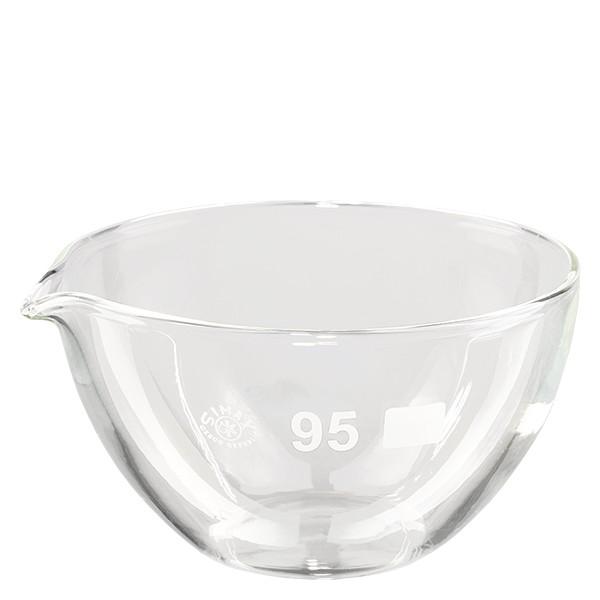 Abdampfschale 170ml Borosilikatglas mit Ausguss