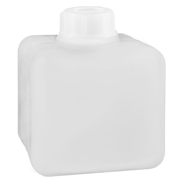 Chemikalienflasche 500ml, Enghals aus PE-HD, naturfarbig, inkl. Verschluss GL 32