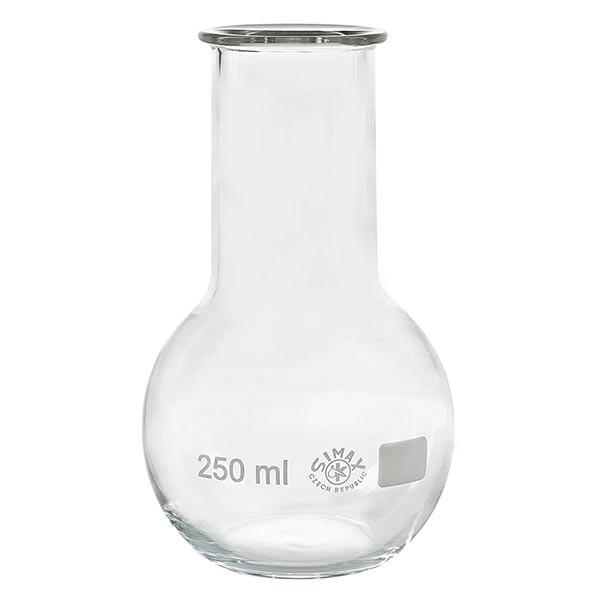 Stehkolben 250ml Weithals Borosilikat mit Bördelrand