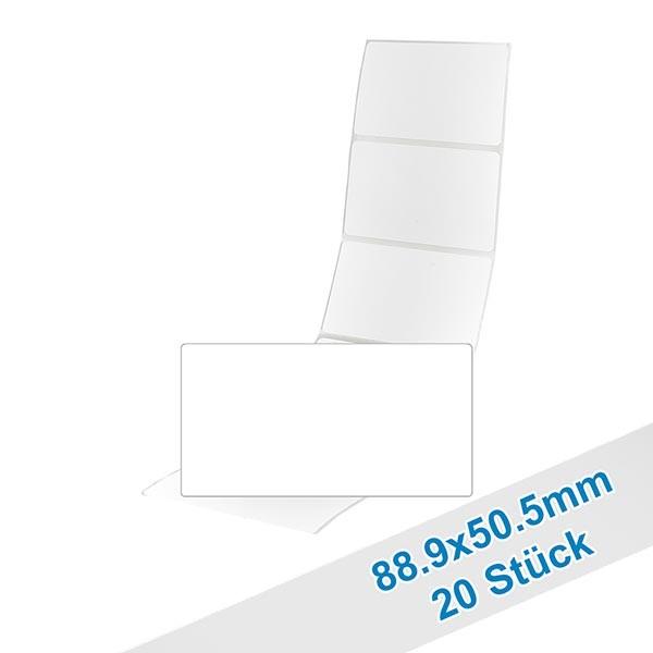 20er Pack Etiketten 88.9x50.5mm zum Beschriften