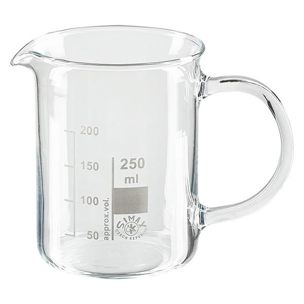 Messbecher / Becherglas 250ml mit Henkel