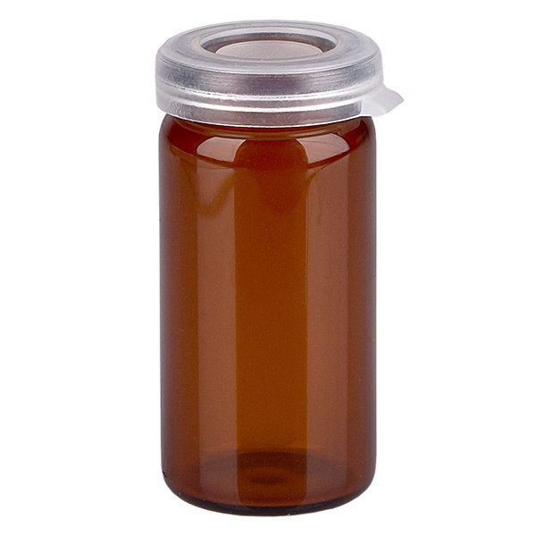 5ml Tablettenglas Braunglas inkl. Schnappdeckel (Rollrandglas)