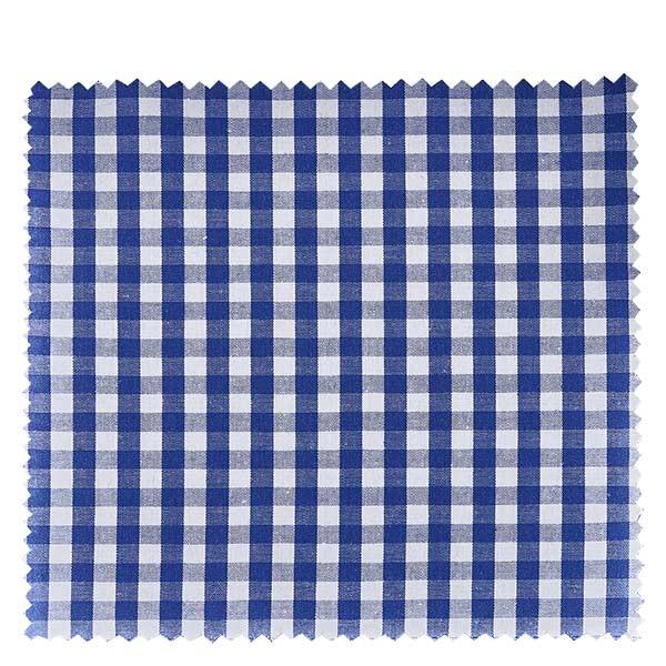 1 x Stoffdeckchen 150x150mm Blau/Karo für Deckel Durchmesser 43-100mm