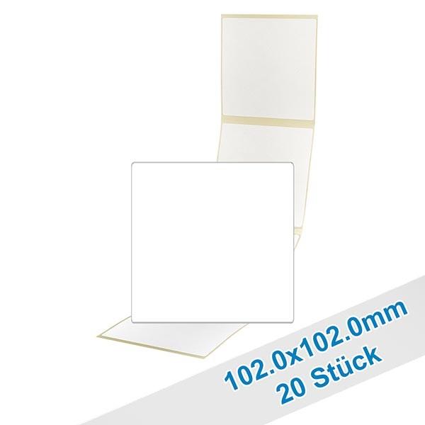 20er Pack Etiketten 102.0x102.0mm zum Beschriften