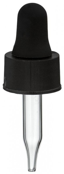 UNiTWIST Glas-Tropfpipette schwarz 13mm PL28