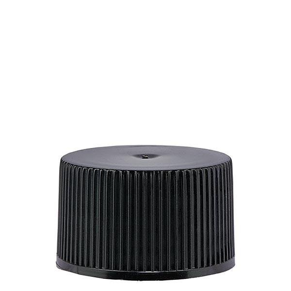 Schraubverschluss 25mm schwarz PP Standard mit Dichtung