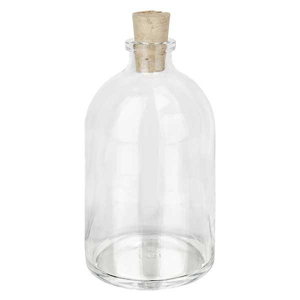 Injektionsflasche Klarglas 100ml mit Korken 11/14mm