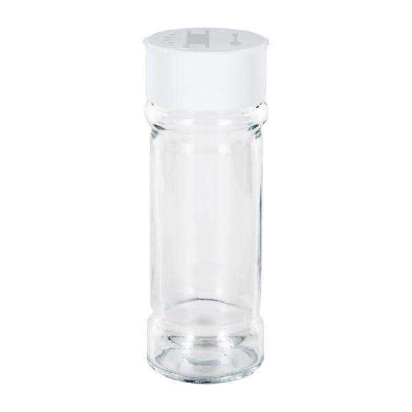 Gewürzglas Zylinderform 100ml inkl. Streuer-Schraubverschluss weiß