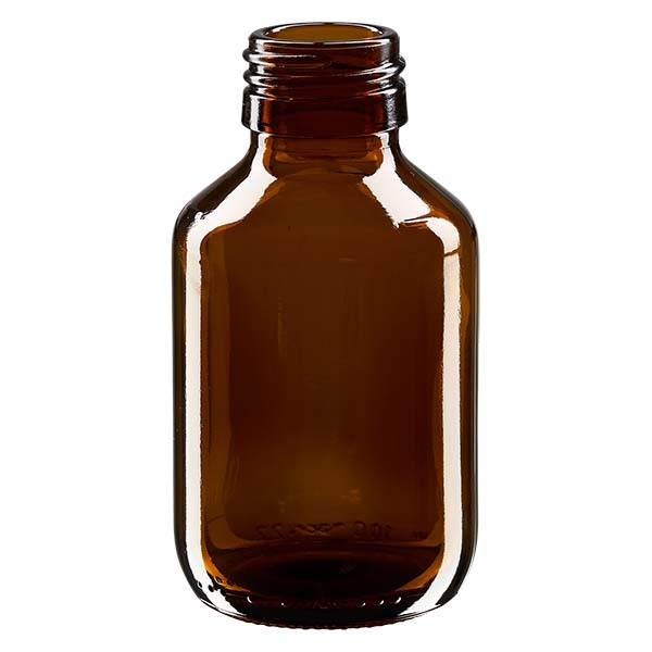 100ml Euro-Medizinflasche braun