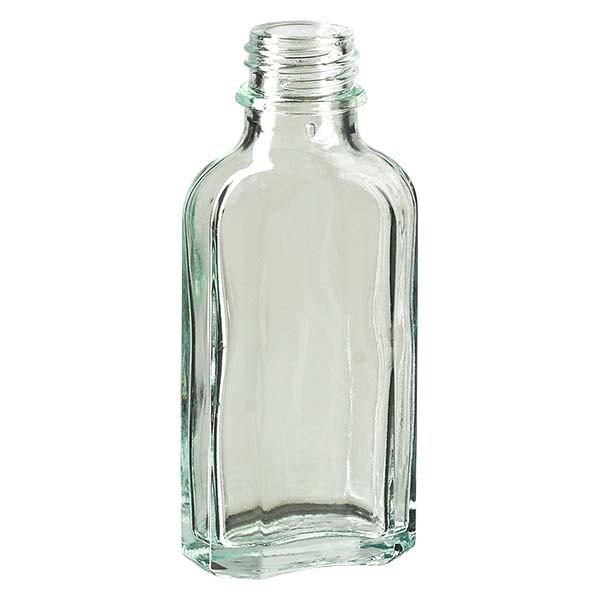 50 ml weiße Meplatflasche mit DIN 22 Mündung