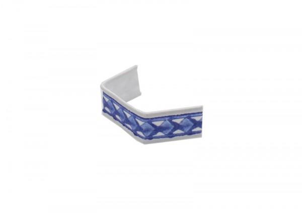 100 x U-Clip aus Papier, Länge 40, blau/weiß