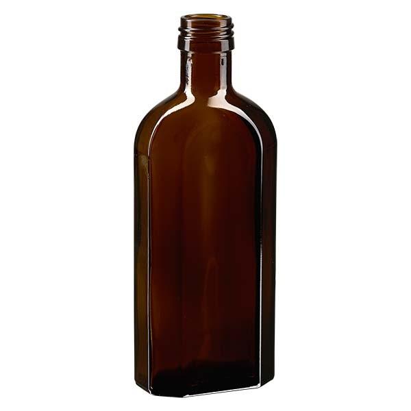 250 ml braune Meplatflasche mit PP 28 Mündung