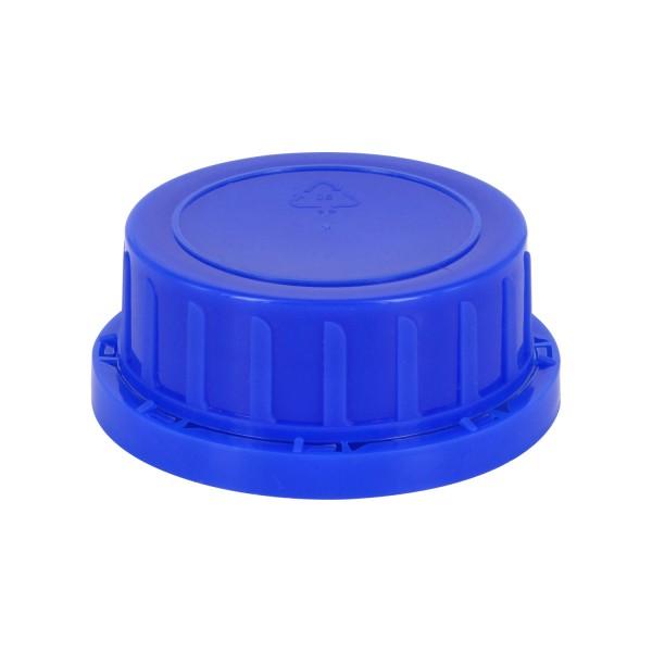 Schraubverschluss OV DIN 54 blau mit Konusdichtung, passend für Weithalsflaschen 500ml und 1000ml (A