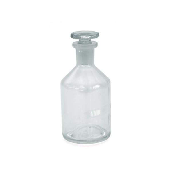 100 ml Steilbrustflasche Enghals Klarglas inkl. Glasstopfen