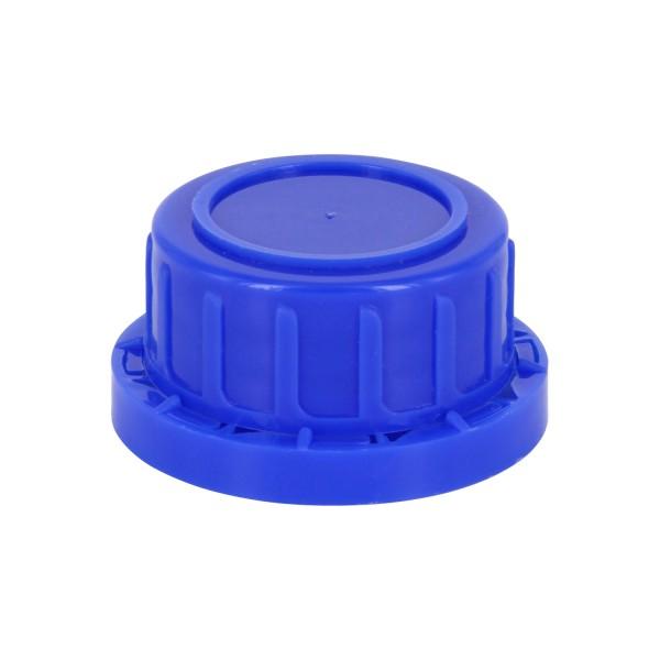 Schraubverschluss OV DIN 32 blau mit EPE-Einlage, passend für Weithalsflaschen 100ml (Art Nr 1000001
