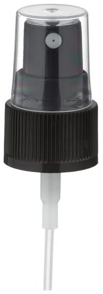 Pumpzerstäuber für 10ml Alu-Flasche schwarz mit Schutzkappe GCMI 20/410