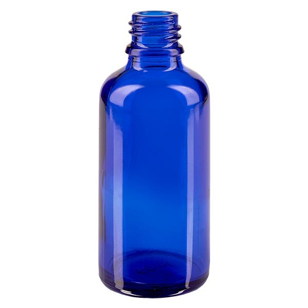 Tropfflasche 50ml ND 18 Blauglas Apothekenglas