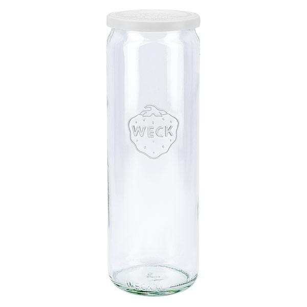 WECK 600ml Zylinderglas mit Frischhalte Deckel