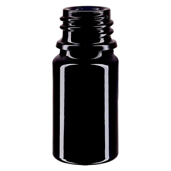 Violettglas Flasche 5ml DIN 18 (Mironglas)