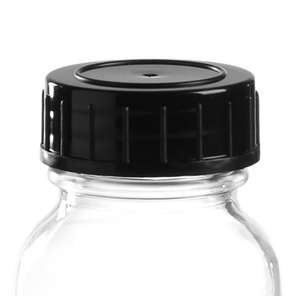 Schraubverschluss schwarz aus PPN 32mm (DIN 32)