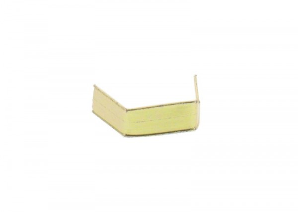 100 x U-Clip aus Papier, Länge 33, gold