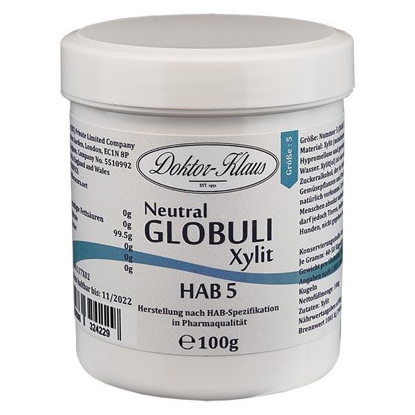 100g Neutral Globuli HAB5 aus Xylit (zuckerfrei)