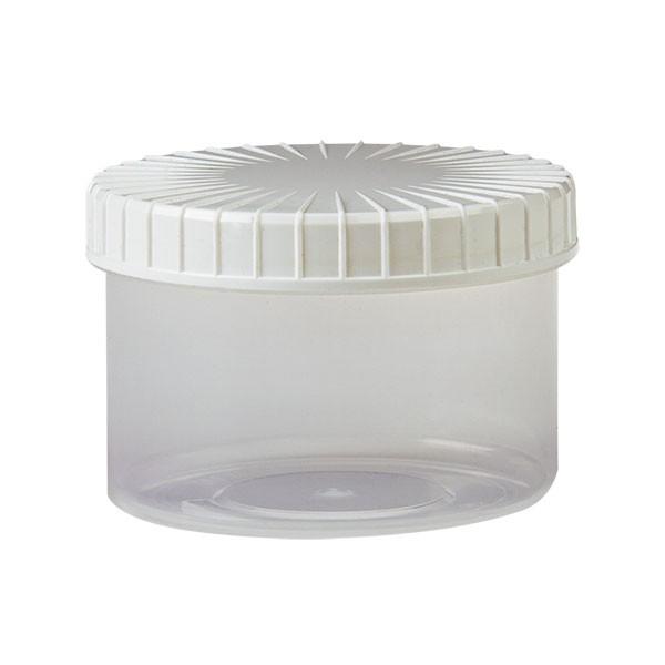 250ml transparente Schraubdose aus Kunststoff mit Deckel