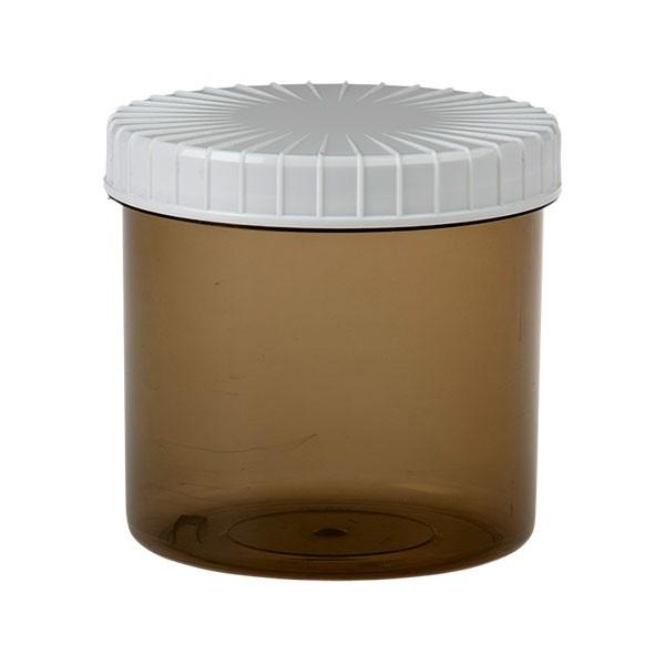 375ml Kunststoffdose Braun mit weißem Schraubdeckel