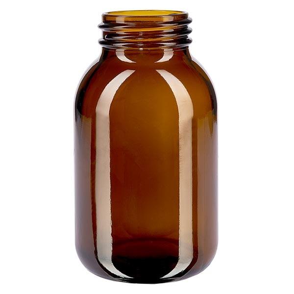 Weithalsflasche 500ml Braunglas mit DIN 55 Mündung ohne Verschluß