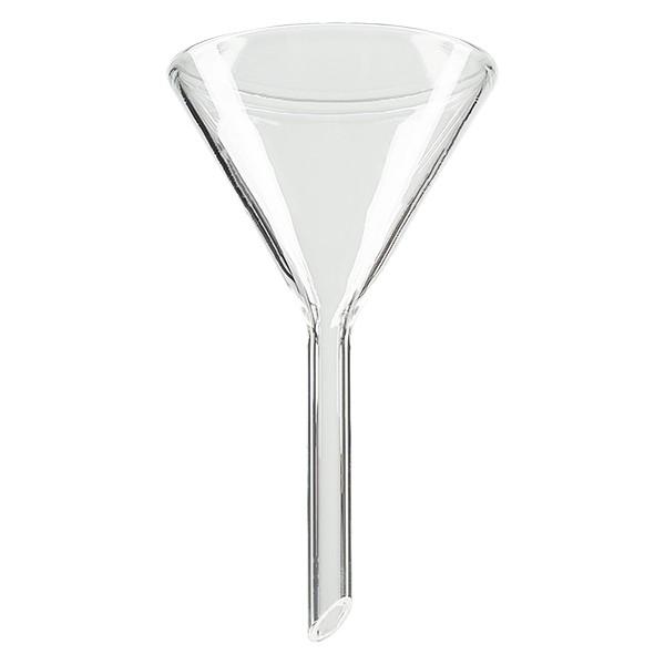 Glastrichter Ø 50mm - Kalk-Soda-Glas - 60° Winkel