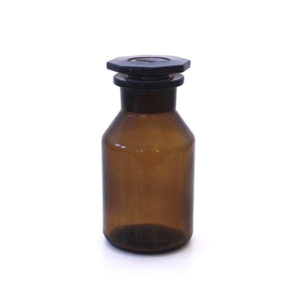 250 ml Weithalsflasche / Steilbrustflasche mit Glasstopfen