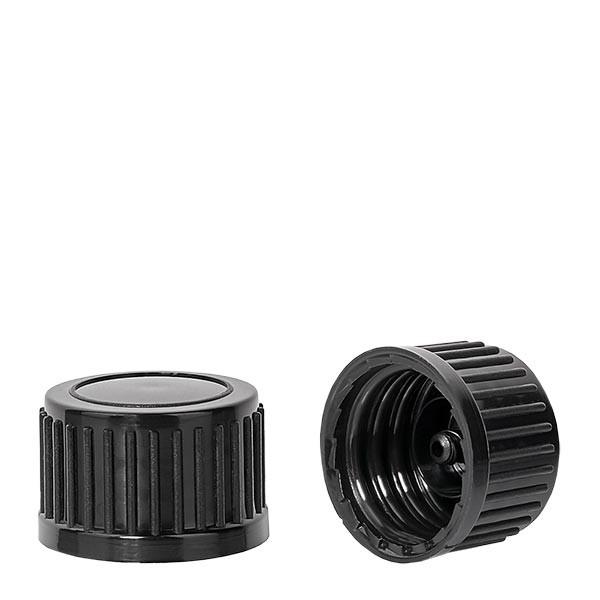 Schraubverschluss schwarz 18mm Standard