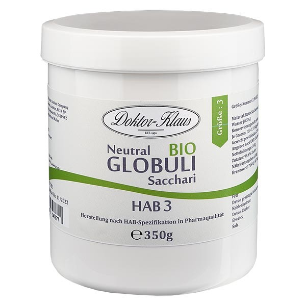 350g Bio Neutral Globuli HAB3 aus 100% reiner Sachharose
