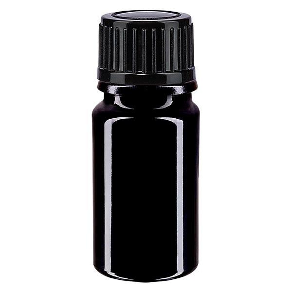 Apothekenfl. viol. 5ml Schraubv. schwarz St