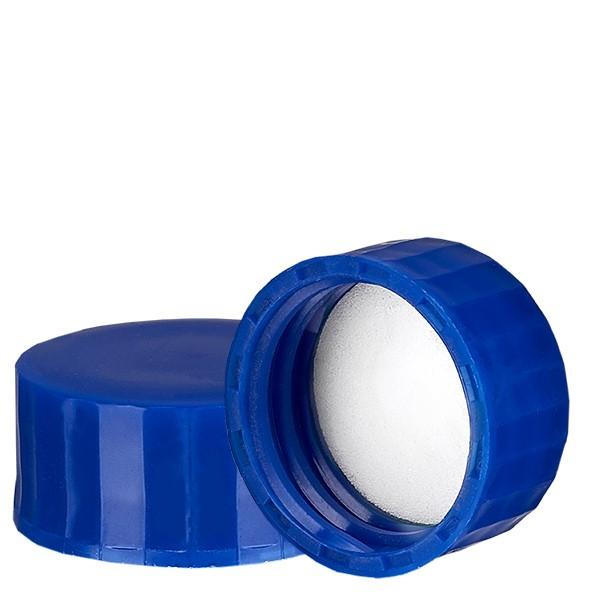 Schraubverschluss blau mit PE Einlage, S27x3