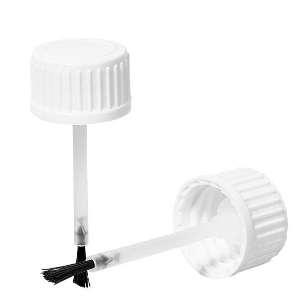Schraubverschluss mit Pinsel weiss 18mm OV (für 10ml Flasche)