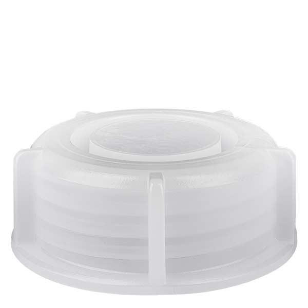Schraubverschluss für 1000ml Weithalslaborflasche transp. 65mm