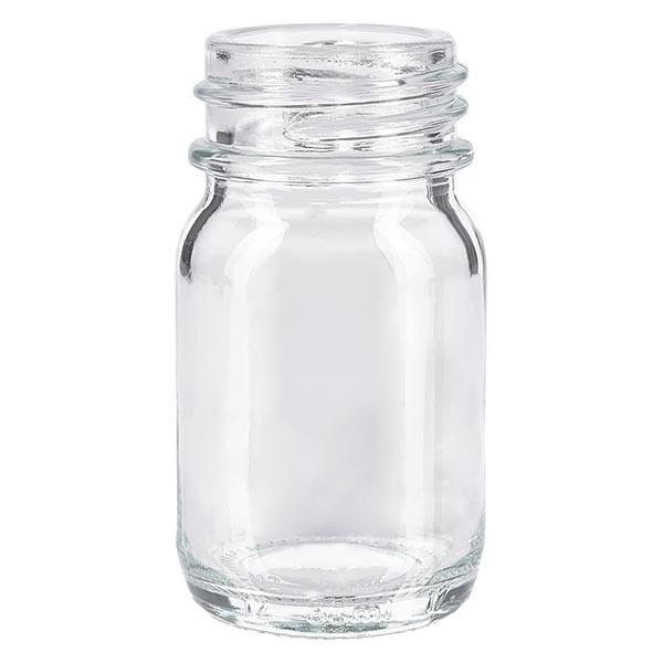 Weithalsflasche 30ml Klarglas mit DIN 32 Mündung ohne Verschluß