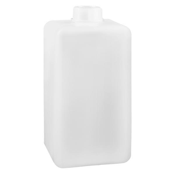 Chemikalienflasche 1500ml, Enghals aus PE-HD, naturfarbig, inkl. Verschluss GL 32