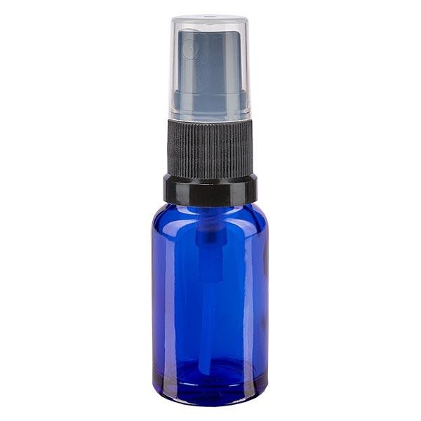 Blauglasflasche 10ml mit Pumpzerstäuber schwarz