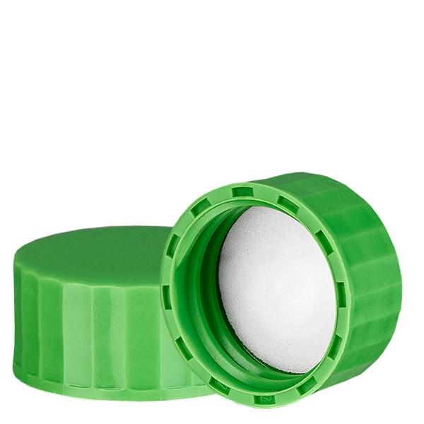 Schraubverschluss grün mit PE Einlage, S27x3