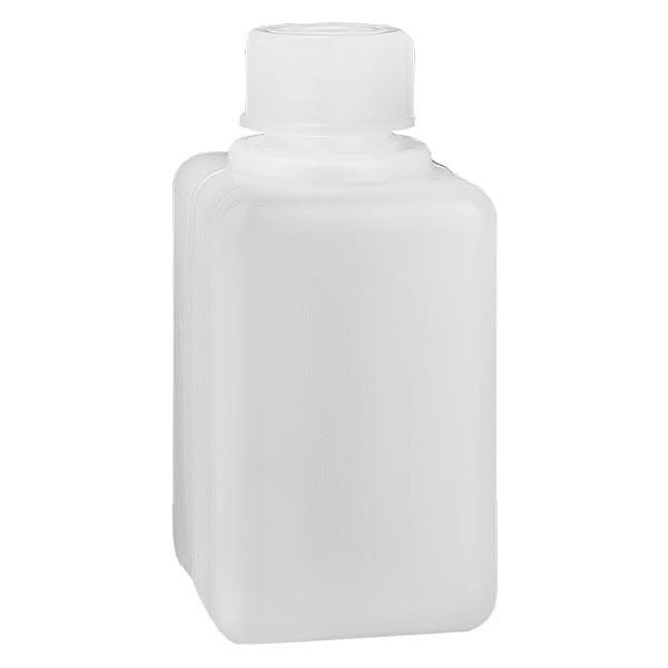 Chemikalienflasche 50ml, Enghals aus PE-HD, naturfarbig, inkl. Verschluss GL 18