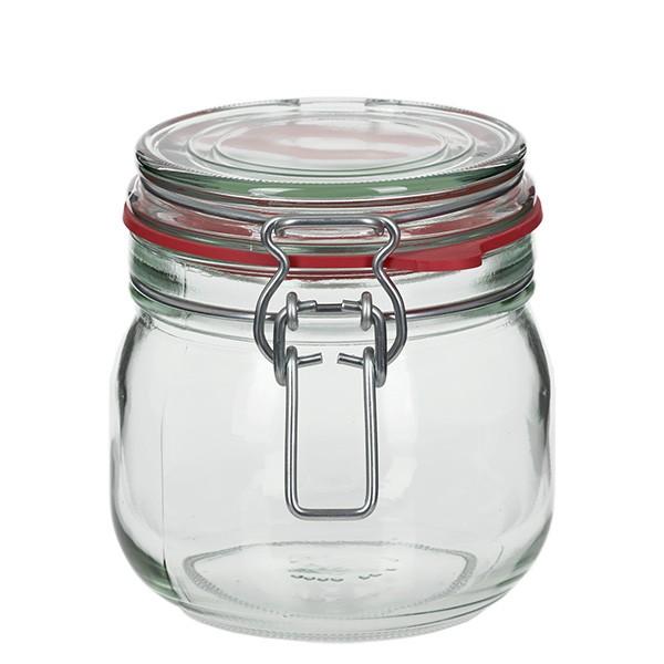 634 ml Drahtbügelglas / Spannbügelglas rund, für Pasteurisation geeignet
