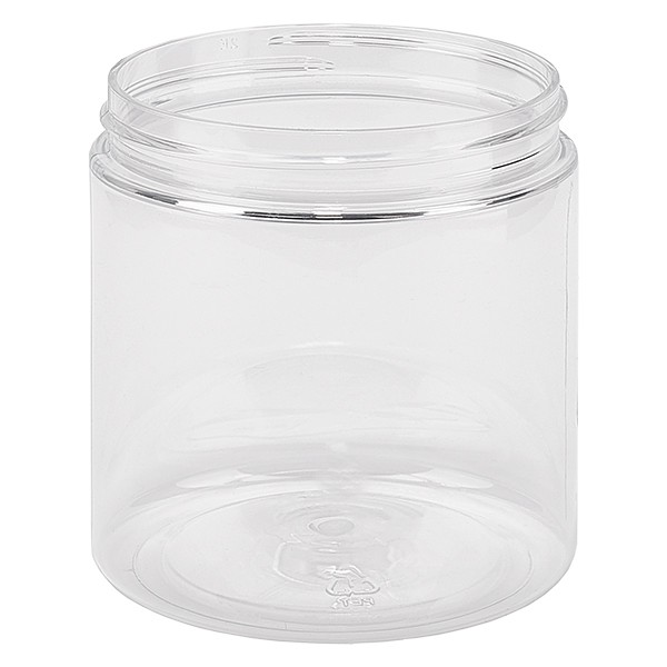 PET Schraubdose 250 ml klar Gewinde 70SP400