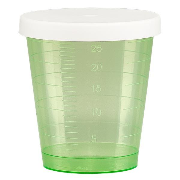Medikamentenbecher 30ml inkl. Schnappdeckel (Medizinbecher/Schnapsbecher) Farbe: grün