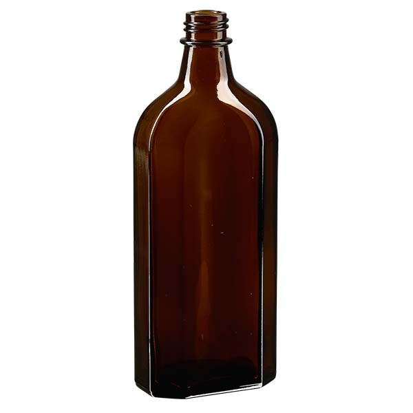 250 ml braune Meplatflasche mit DIN 22 Mündung