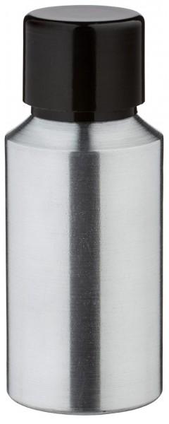 30ml Aluminium-Flasche geschliffen inkl. Schraubkappe schwarz mit Konusdichtung