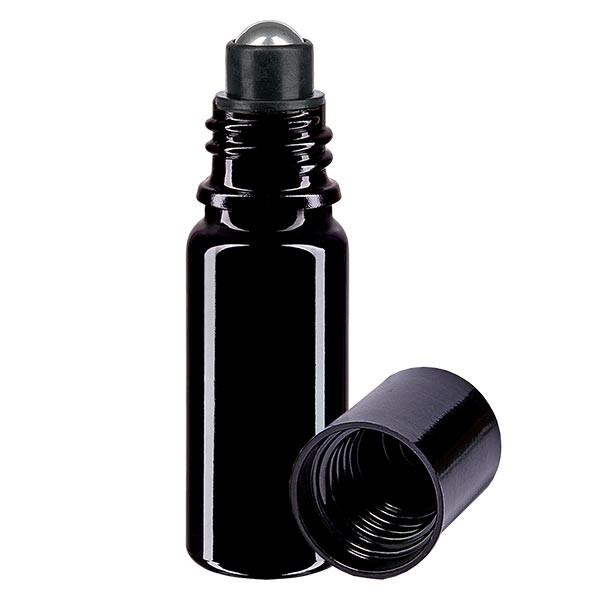 Glas Deostick Flasche violett 10ml, leerer Deo Roller (Roll On)